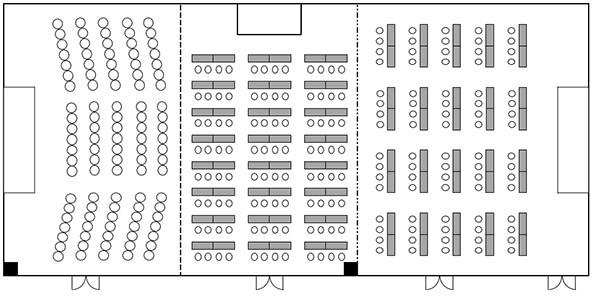 会議室ライフォートホールの間取り図